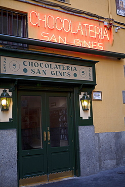 Spain, Madrid, Chocolateria San Gines.