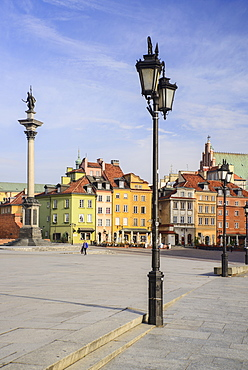 Poland, Warsaw, King Sigismund III Vasa Column in Plac Zamkowy or Castle Square.