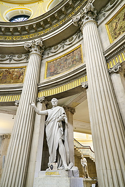 Ireland, County Dublin, Dublin City Hall, Statue of Daniel O'Connell.