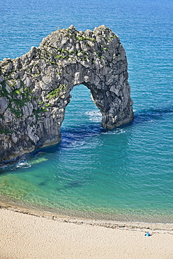 England, Dorset, Durdle Door, Close up of limestone arch on the Jurassic Coast.