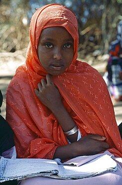 SOMALILAND  Hargeisa Young girl attending Koranic school.