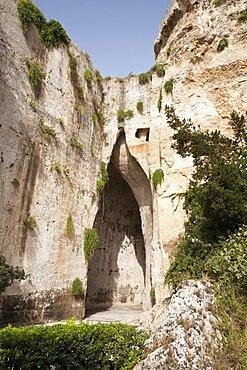 Neapolis Archaeological Park Ear of Dionysius, Syracuse, Sicily, Italy