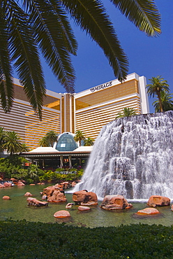 The Mirage Hotel and volcano, Las Vegas, Nevada, United States of America