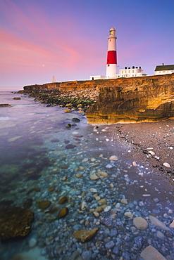 Portland Bill Lighthouse on the southern tip of the Isle of Portland, Jurassic Coast, UNESCO World Heritage Site, Dorset, England, United Kingdom, Europe