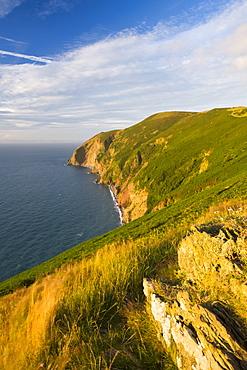 Cliffs near Foreland Point, Lynmouth, Exmoor National Park, Devon, England, United Kingdom, Europe