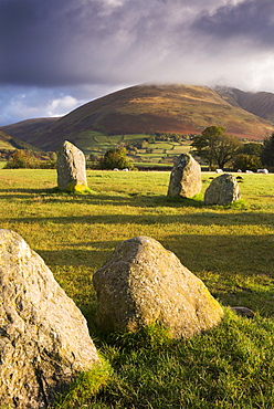 Castlerigg Stone Circle in the Lake District National Park, Cumbria, England, United Kingdom, Europe