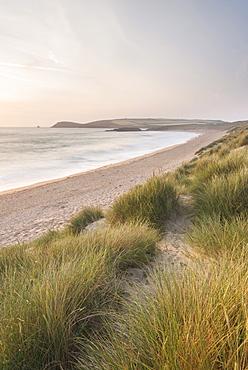 Constantine Bay with Trevose Head beyond, Cornwall, England, United Kingdom, Europe