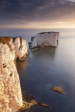 Old Harry Rocks on the Jurassic Coast, UNESCO World Heritage Site, Studland, Dorset, England, United Kingdom, Europe