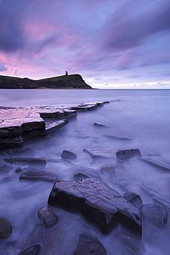 Kimmeridge Bay at dawn, Jurassic Coast, UNESCO World Heritage Site, Dorset, England, United Kingdom, Europe