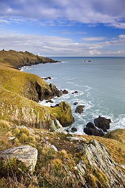 Start Point peninsula and lighthouse, South Devon, England, United Kingdom, Europe