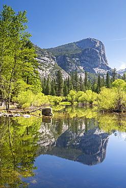 Mirror Lake in Yosemite Valley, UNESCO World Heritage Site, California, United States of America, North America
