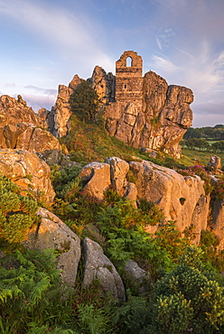 Abandoned ancient chapel built into the rocky outcrop at Roche Rock, Cornwall, England, United Kingdom, Europe