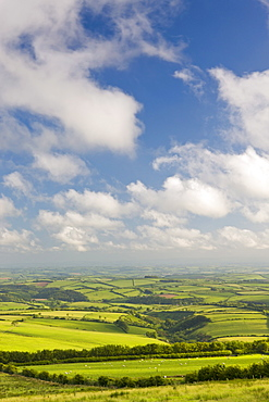 Spectacular rolling countryside of Exmoor National Park and rural Devon, England, United Kingdom, Europe