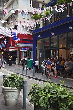 Restaurants and bars in Soho area, Central, Hong Kong, China, Asia
