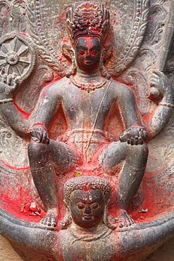 Vishnu and Garuda statue at Changu Narayan Temple, Bhaktapur, UNESCO World Heritage Site, Kathmandu Valley, Nepal, Asia