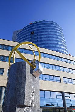 VUB Bank building in City Business Centre, Bratislava, Slovakia, Europe