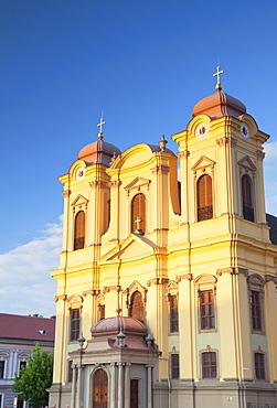 Roman Catholic Cathedral in Piata Unirii, Timisoara, Banat, Romania, Europe