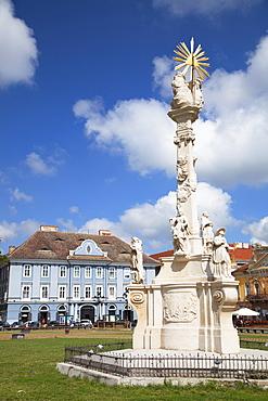 Trinity Column in Piata Unirii, Timisoara, Banat, Romania, Europe