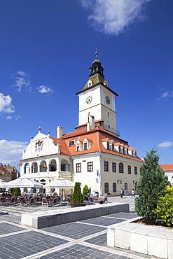 Council House in Piata Sfatului, Brasov, Transylvania, Romania, Europe
