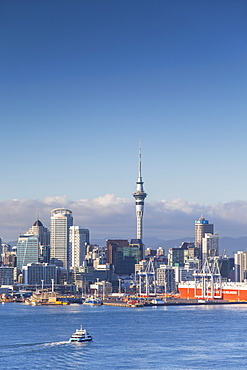 View of Auckland skyline, Auckland, North Island, New Zealand, Pacific