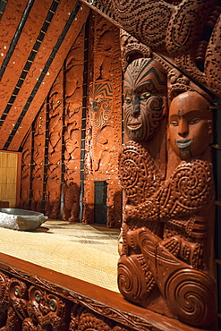 Maori pataka in Auckland Museum, Auckland, North Island, New Zealand, Pacific