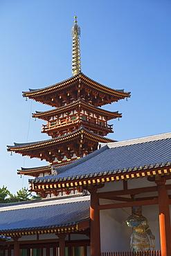 West Pagoda at Yakushiji Temple, UNESCO World Heritage Site, Nara, Kansai, Japan, Asia
