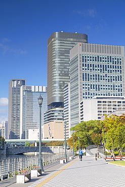 Skyscrapers on Naganoshima Island, Osaka, Kansai, Japan, Asia