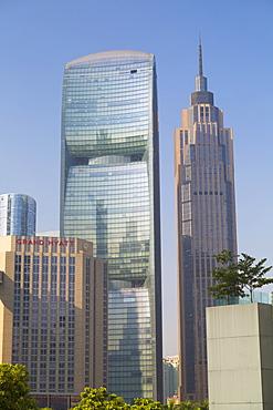 Pearl River Tower in Zhujiang New Town, Tian He, Guangzhou, Guangdong, China, Asia