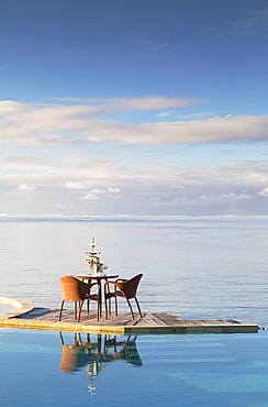 Pool of Sofitel Hotel, Bora Bora, Society Islands, French Polynesia, South Pacific, Pacific