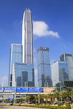 Ping An International Finance Centre, world's fourth tallest building in 2017 at 600m, Futian, Shenzhen, Guangdong, China, Asia