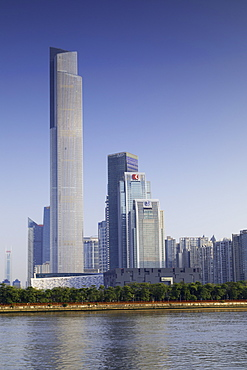 CTF Finance Centre (world's seventh tallest building in 2017 at 530m), Tianhe, Guangzhou, Guangdong, China, Asia