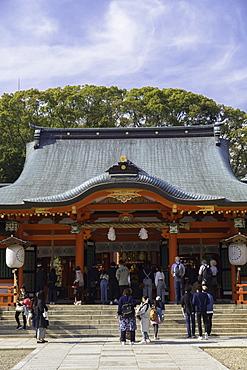 Ikuta Jinja shrine, Kobe, Kansai, Japan, Asia