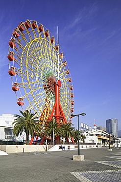 Ferris wheel at harbour, Kobe, Kansai, Japan, Asia