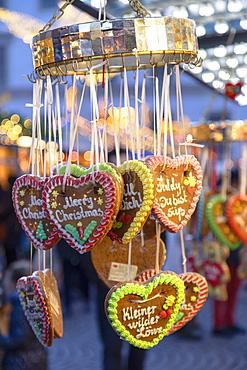 Cookies at Christmas Market, Wiesbaden, Hesse, Germany, Europe