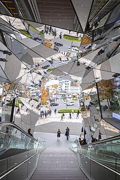 Entrance to Tokyo Plaza Omotesando, Harajuku, Tokyo, Honshu, Japan, Asia