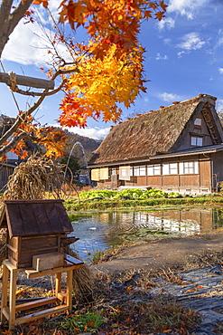 Traditional house of Ogimachi, UNESCO World Heritage Site, Shirakawa-go, Toyama Prefecture, Honshu, Japan, Asia