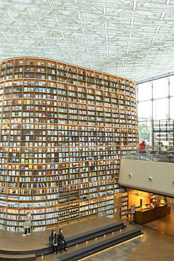Starfield Library in COEX Mall, Seoul, South Korea, Asia