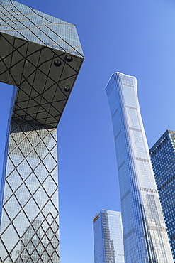 CITIC Tower, the tallest skyscraper in Beijing in 2020, and CCTV Headquarters, Beijing, China, Asia