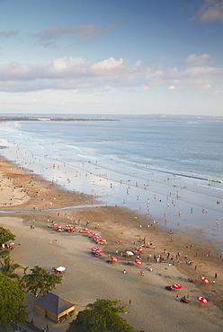 Aerial view of Legian beach, Bali, Indonesia, Southeast Asia, Asia
