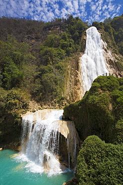 Cascada El Chiflon, Rio Vincente, Chiapas, Mexico, North America