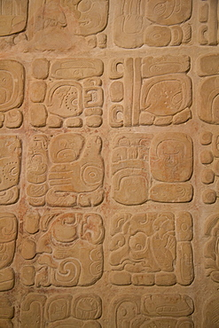 Palace tablet with hieroglyphs, Archaeological Museum of Palenque, Palenque Archaeological Zone, Chiapas, Mexico, North America