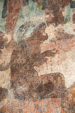 Prisoner of the victorious Mayan ruler, Room 2, Temple of Murals, Bonampak Archaeological Zone, Chiapas, Mexico, North America