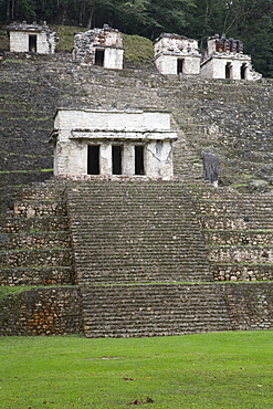 Building 2 in the foreground, Bonampak Archaeological Zone, Chiapas, Mexico, North America