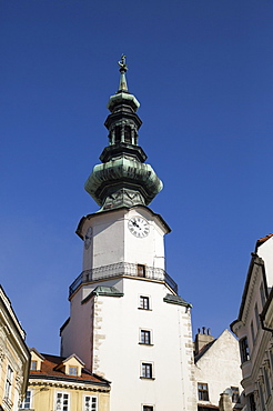 Tower of St. Michael's Gate, Old Town, Bratislava, Slovakia, Europe