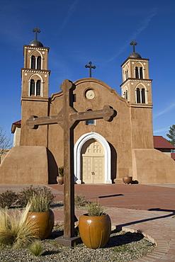 San Miguel de Socorro Mission, dates back to 1598, Socorro, New Mexico, United States of America, North America