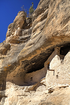 Cliff dwellings constructed over 700 years ago, Gila Cliff Dwellings National Monument, New Mexico, United States of America, North America