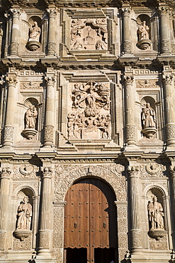 The Cathedral of the Virgin of the Assumption, began in 1553, Oaxaca City, Oaxaca, Mexico, North America