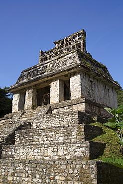 Temple of the Sun, Palenque Archaeological Park, UNESCO World Heritage Site, Palenque, Chiapas, Mexico, North America