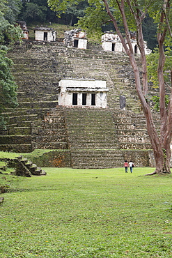 The Acropolis, Building 3 in the foreground, Mayan Archaeological Site, Bonampak, Chiapas, Mexico, North America