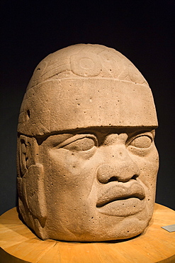 Olmec colossal head, National Museum of Anthropology, Mexico City, Mexico, North America